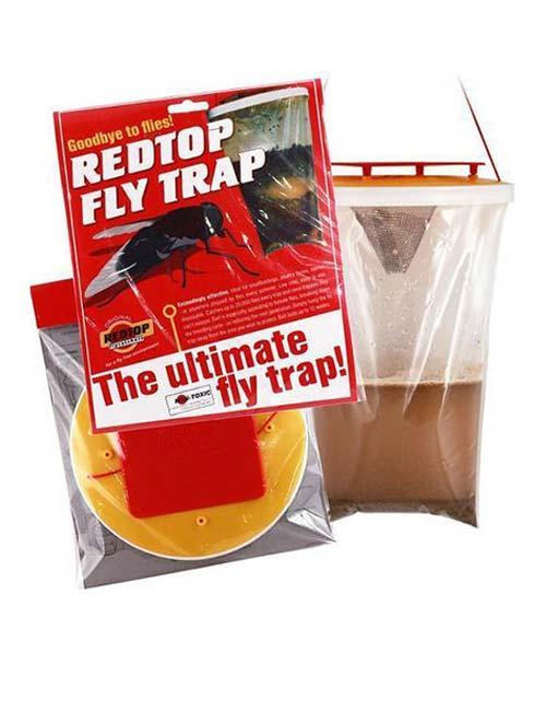 Trappola per mosche red top 1 shop disinfestazione for Trappola piccioni